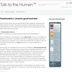 Talk to the Human Toastmasters: Lessons good and bad