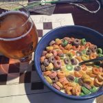 Dinner for champions frootloops and beer